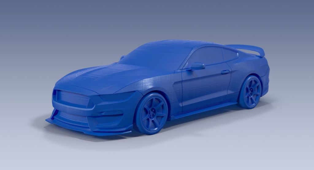 3D printed model of the Ford Shelby GT350 Mustang from the Ford 3D Store.