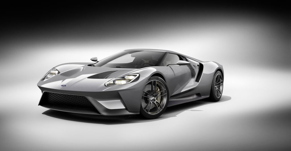 The all-new, carbon-fiber, mid-engined Ford GT supercar