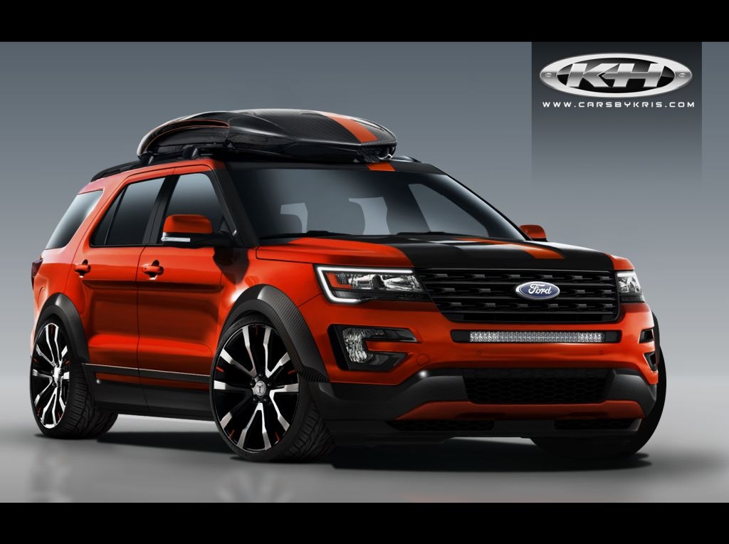 Wherever the open road may take you, this Explorer will be turning heads along the way with its brilliant orange paint scheme and aggressive carbon fiber exterior accents.