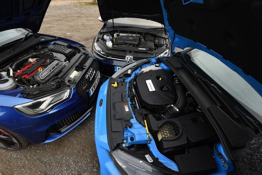2016 Focus RS vs Audi R3 vs Golf-R