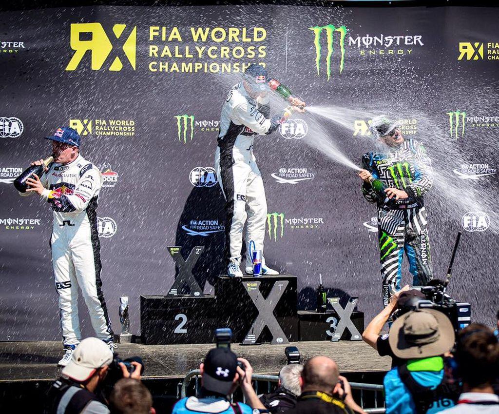 Ken Block podiums 2016 Focus RS RX in Hockenheim