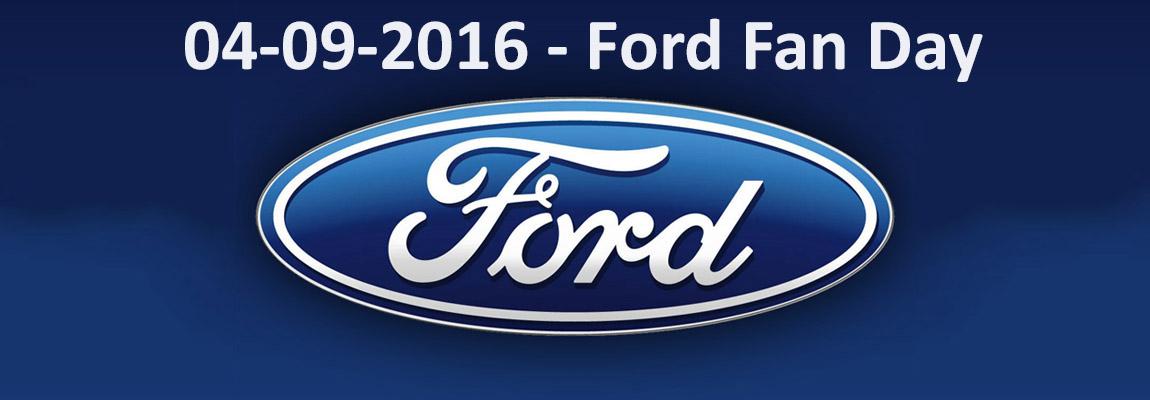 Aanmelden Ford Fan Day 4 september a.s. verlengd