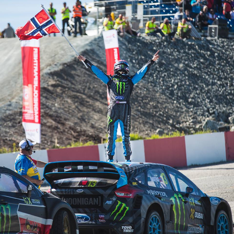 Hoonigan Racing Team Bakkerud wins WRX Norway
