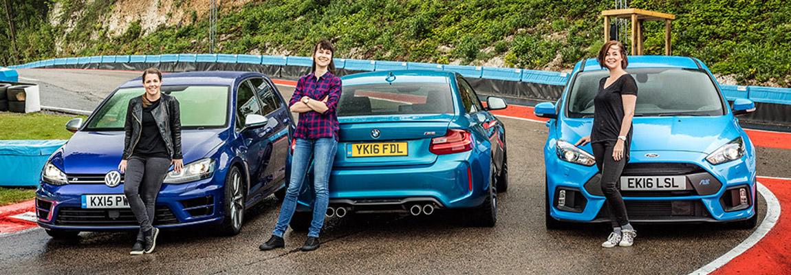 Dames trio test VW Golf R, BMW M2 en de Ford Focus RS