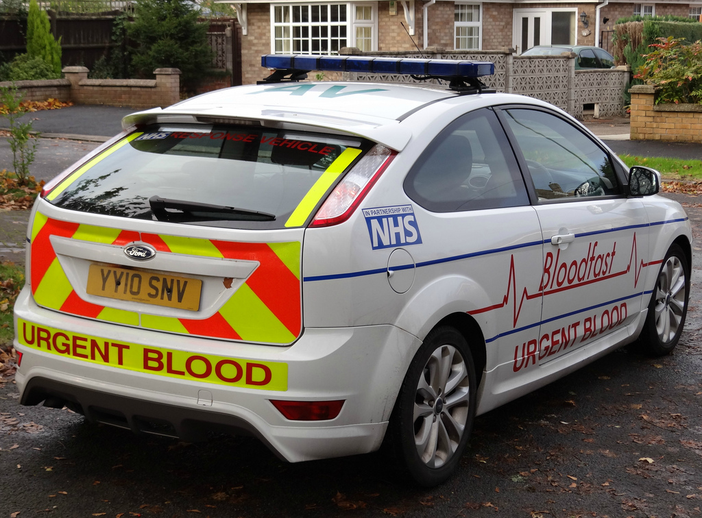NHS Blood Service 2008 Ford Focus S