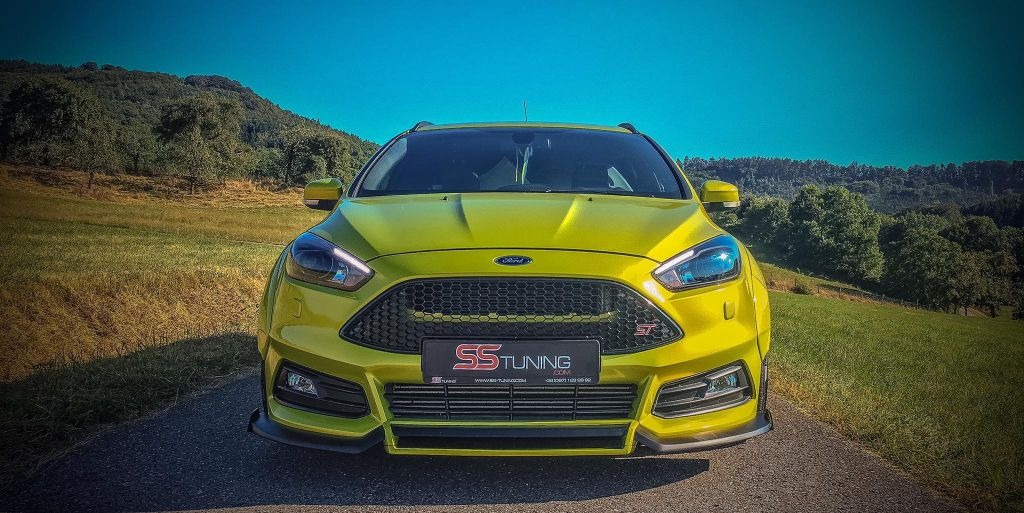 electric lime 2015 ford focus st wagon by ss tuning 03. Black Bedroom Furniture Sets. Home Design Ideas