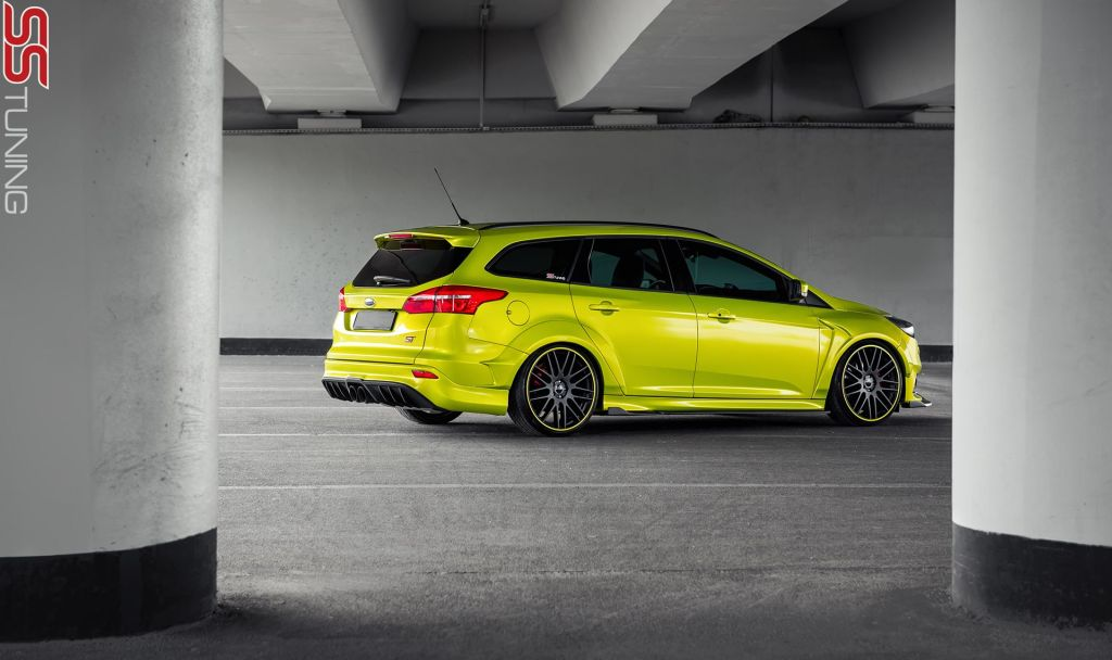 electric lime 2015 ford focus st wagon by ss tuning 16. Black Bedroom Furniture Sets. Home Design Ideas