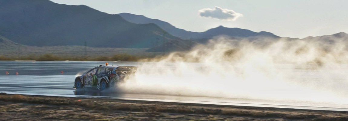 Ken Block test 2017 Ford Focus RS-WRX in Arizona