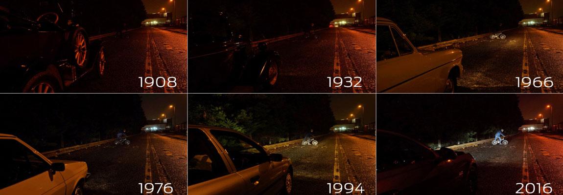 Auto verlichting over de afgelopen 109 jaar