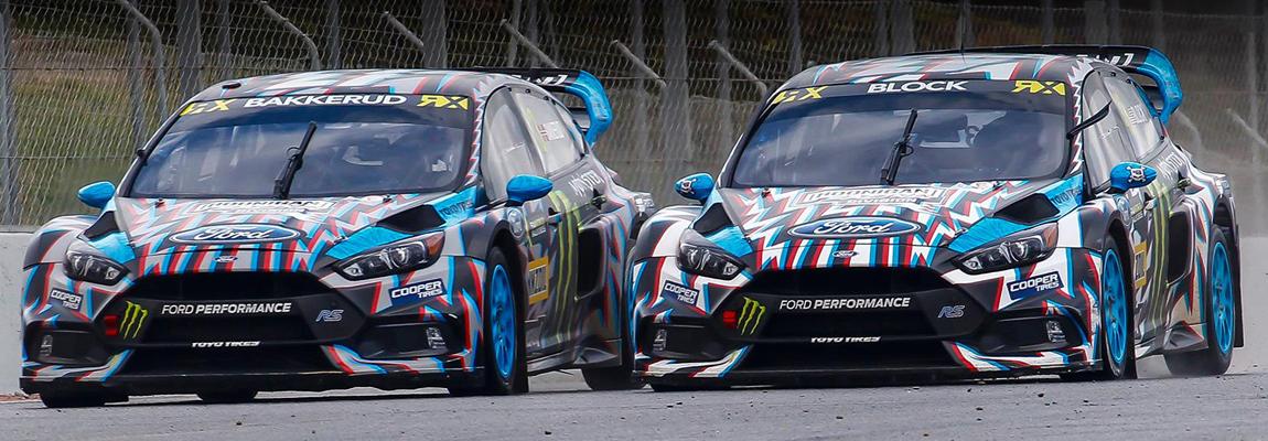 Bakkerud ondanks crash 3e in WRX Barcelona