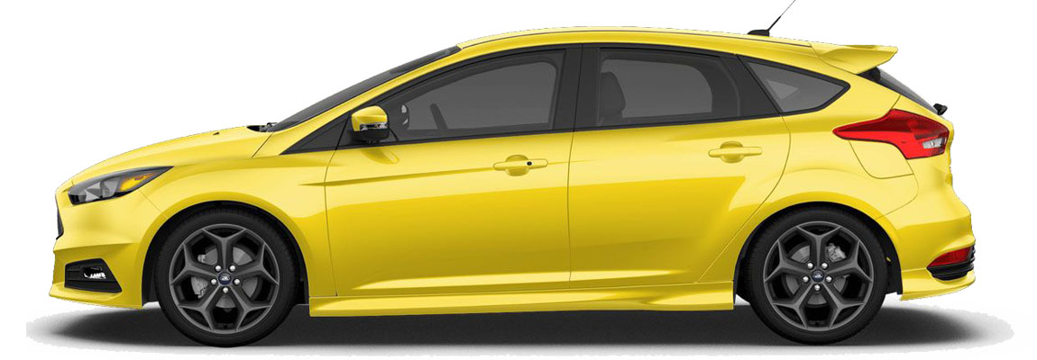 How about 2017 Ford Focus ST in Triple Yellow