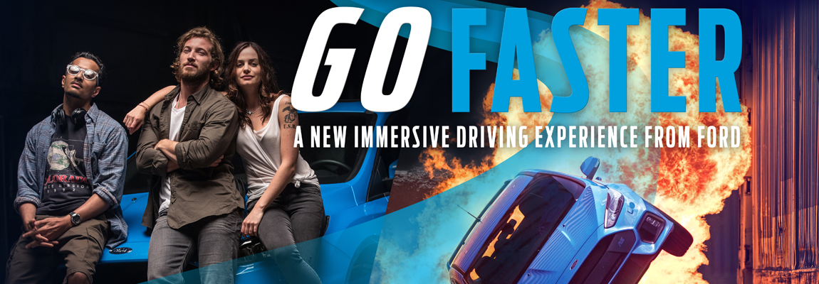 Ooit gedroomd van een carrière als stuntrijder en een rol in de Ford 'Go Faster'