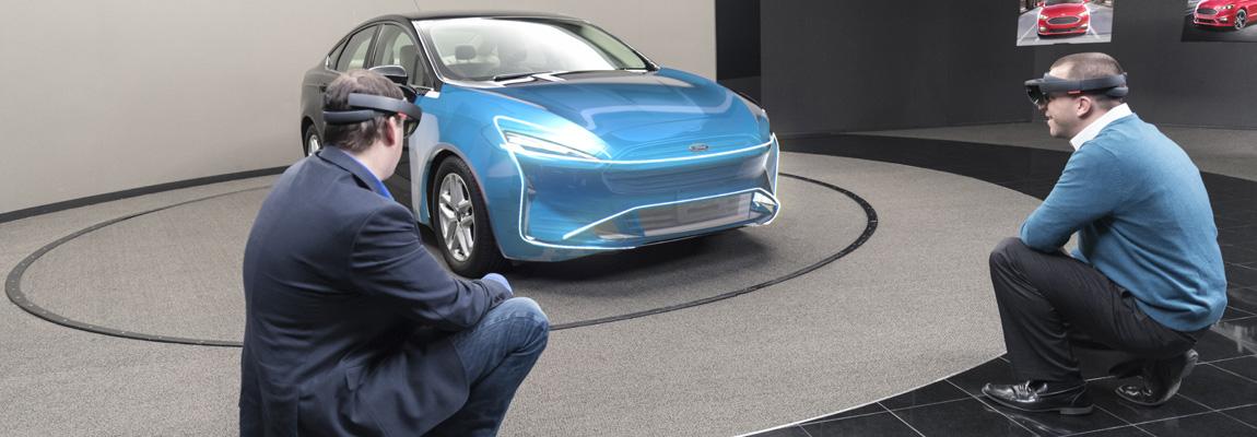 Ford experimenteert mixed reality-technologie in autodesign met de Microsoft HoloLens