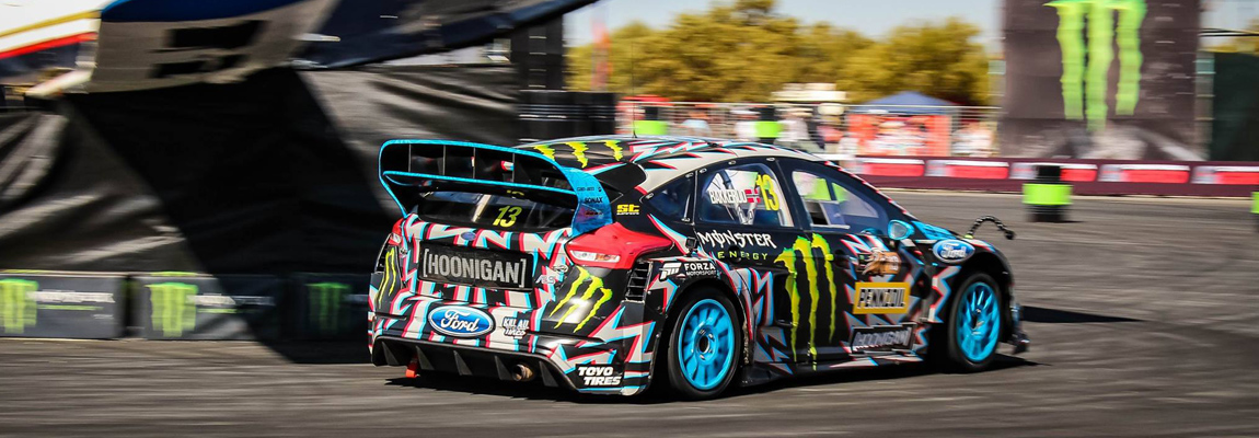 Ford Focus WRX latest action in Gymkhana Grid