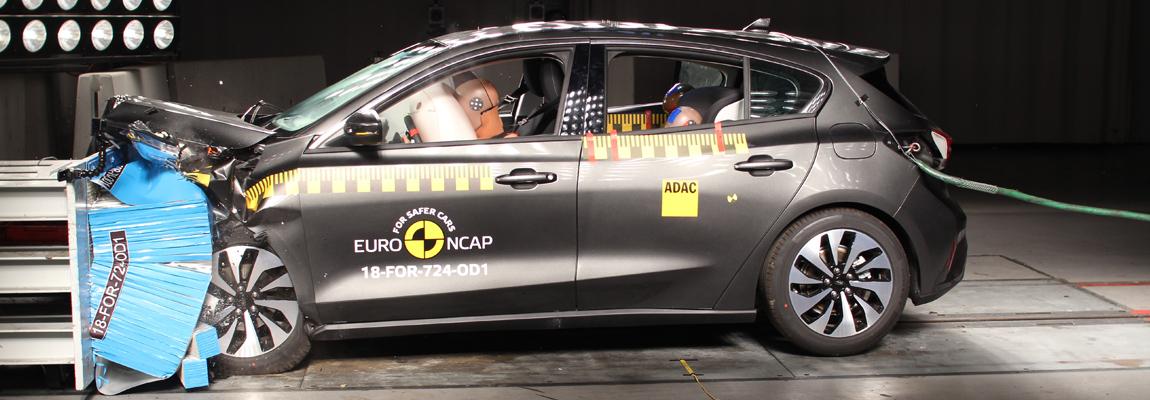 Maximale Euro NCAP score voor de 2018-2019 Ford Focus