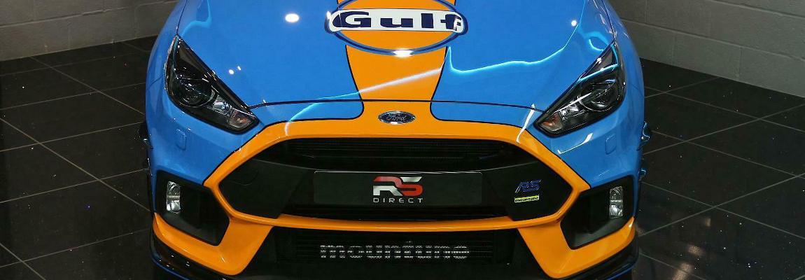 Unieke Ford Focus RS Mk3 Gulf Heritage Edition incl. Mountune M380 pakket te koop