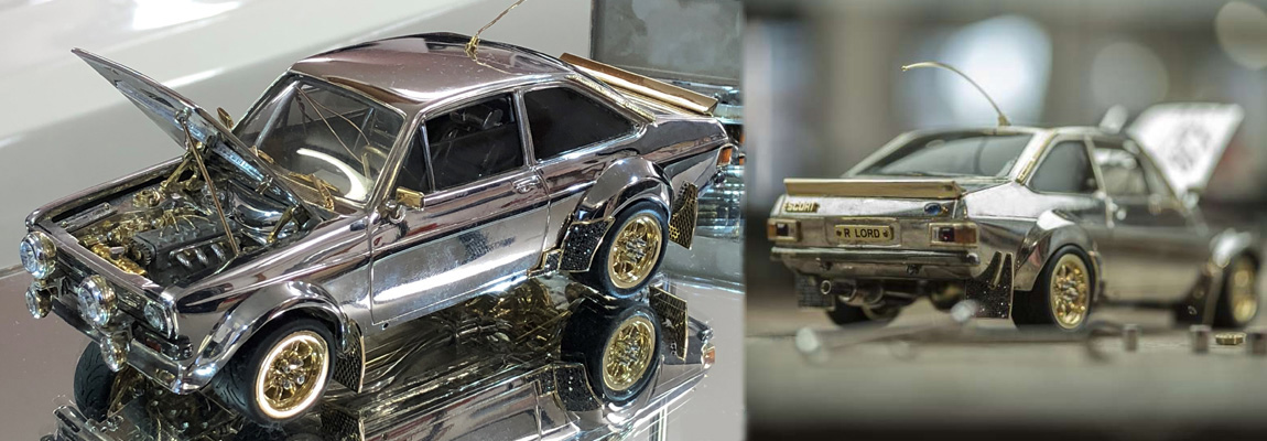 Britse juwelier maakt bijzonder 'Ford Escort' schaalmodel van peperdure materialen