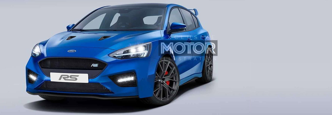 Mk4 generation Ford Focus RS Photoshop Design