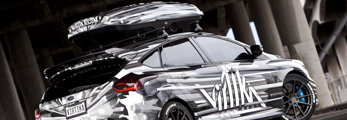Business Ford Focus RS MK3 wrapped art car by Virtika