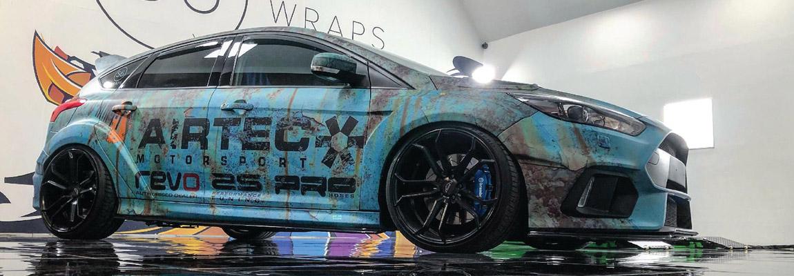 Ford Focus RS Mk3 met een roestige look