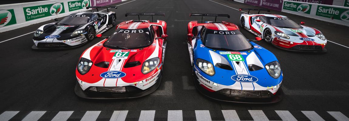 5 Ford GT's zijn klaar voor het laatste gevecht op Le Mans | Update video