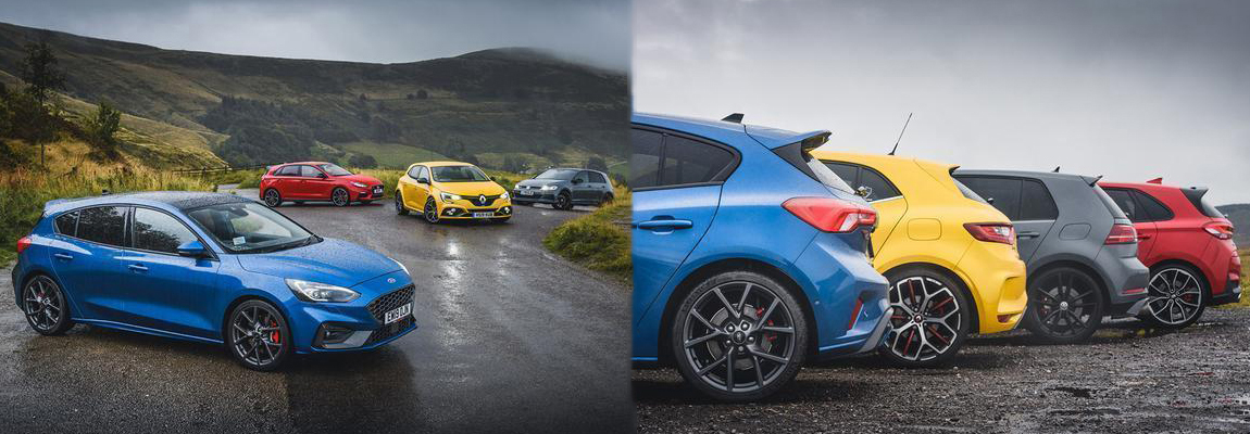 Hot Hatch Test | Focus ST vs. Golf TCR vs. Megane Trophy vs. i30 N