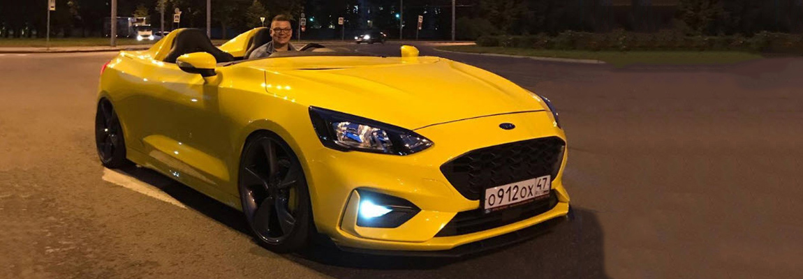 Lekker cruizen met je Ford Focus Mk4 (ST-Line) Speedster | made in Russia
