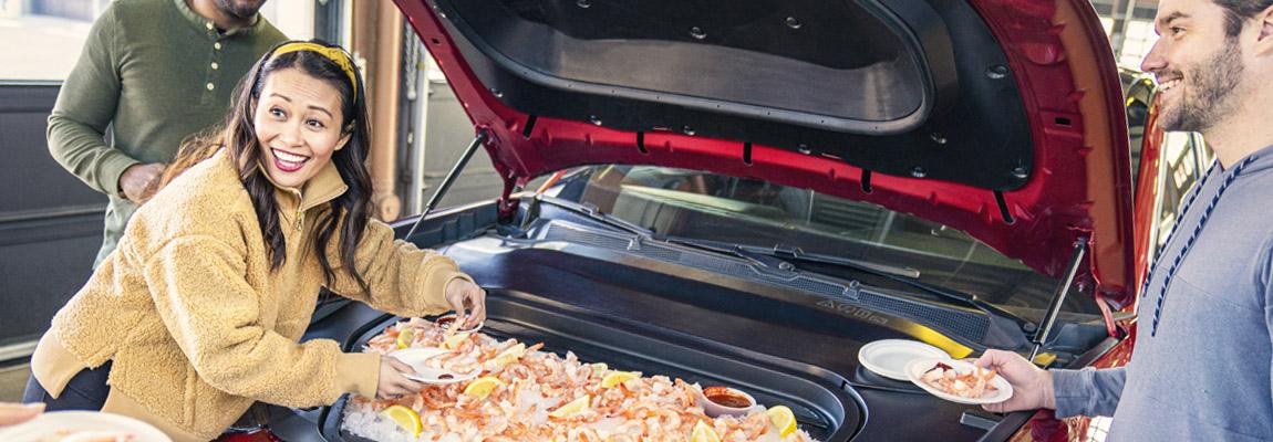 Barbecue onder de 'motorkap' van de volledig elektrische Mustang Mach-E