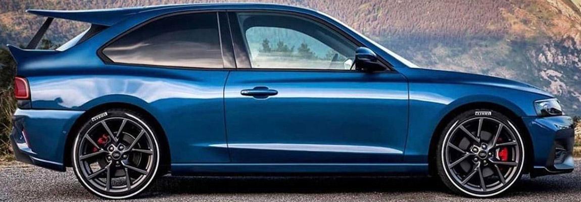 Ford Focus ST omtoveren tot een Escort RS Cosworth, als een soort tribute of……