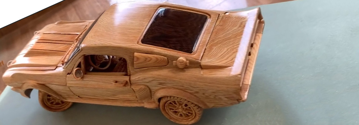 How to make | A wooden 1967 Ford Mustang GT500 by Woodworking Art