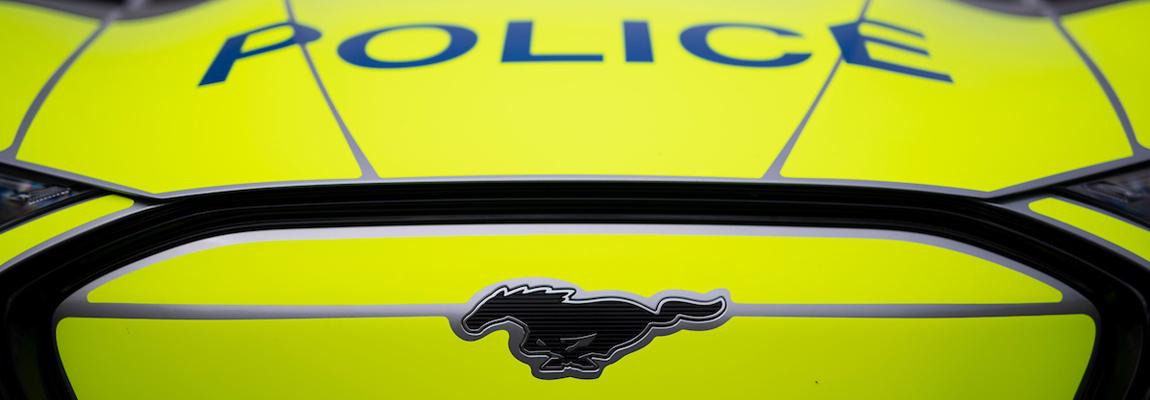 Volledig Elektrische Ford Mustang Mach E in Politie tenue test in de staat Michigan US & de UK